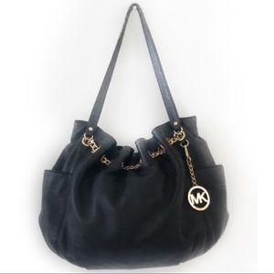 Michael Kors Vintage Large Black Leather Handbag